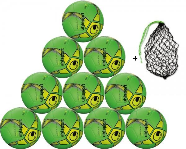 Uhlsport Futsal Medusa Keto Trainingsball Gr. 4 - 10er Ballpaket inkl. Ballnetz