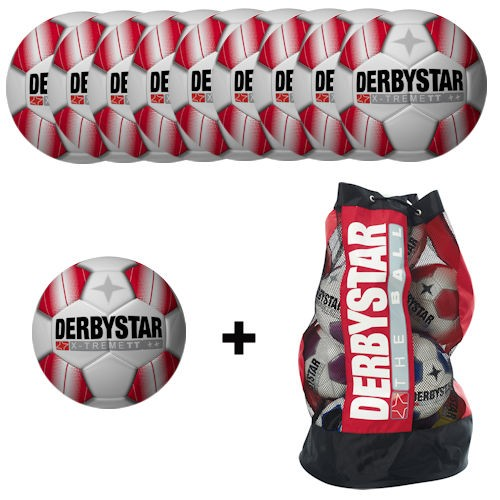 Derbystar Ballpaket Fußball X-Treme TT (10 Bälle+Ballnetz)