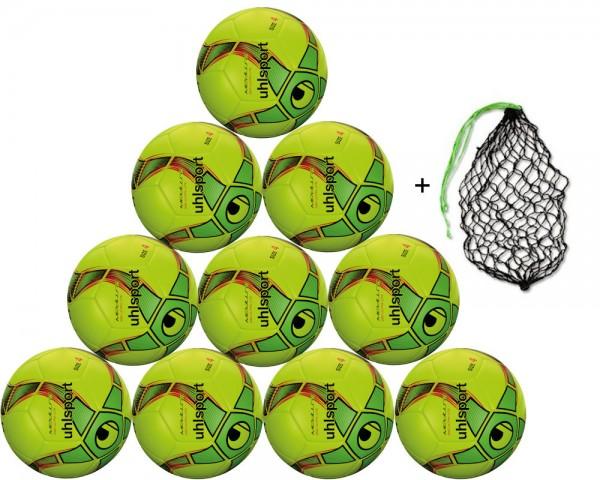 Uhlsport Futsal Medusa Anteo 290 Ultra Lite 10er Ballpaket inkl. Ballnetz