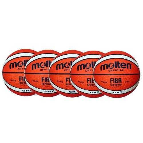 Molten Basketball BGR7-Ol Ballpaket (5 Bälle)
