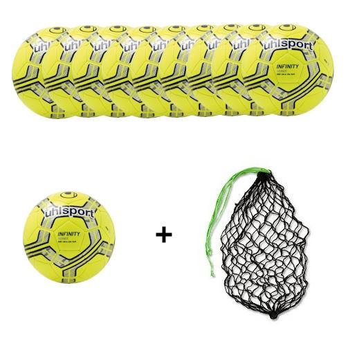 Uhlsport Infinity 290 Ultra Lite Soft gelb Gr.5 - 10 Bälle +Ballnetz