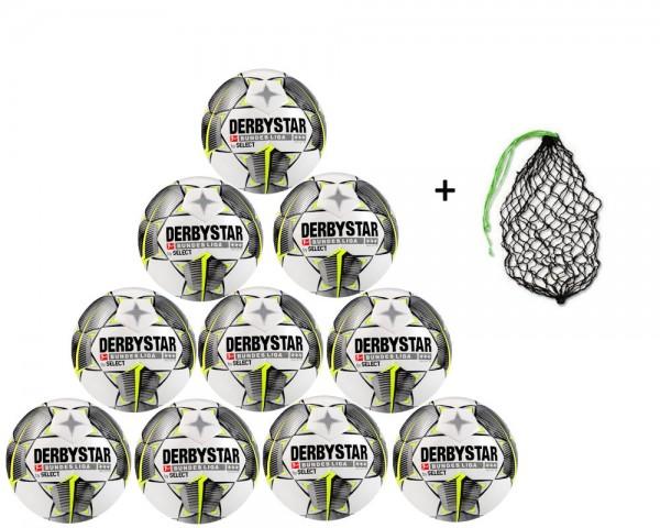 Derbystar Fußball Bundesliga Brillant TT Gr.5 Ballpaket (10 Bälle+Ballnetz)