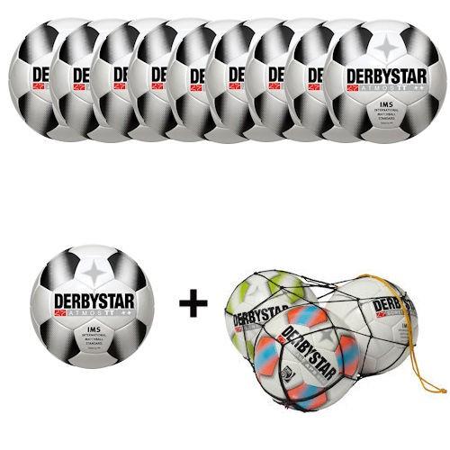 Derbystar Fußball Atmos TT Gr.5 Ballpaket (10 Bälle+Ballnetz)