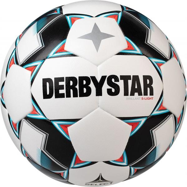 Derbystar Fußball Brillant S-Light DB Top-Jugend Trainingsball 10er Ballpaket inkl. Ballnetz