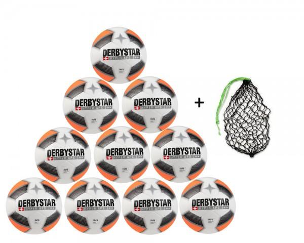 Derbystar Fußball Hyper APS- 10er Ballpaket inkl Ballnetz