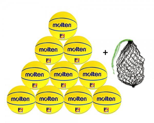 Molten Basketball SB4-DBB 10er Ballpaket inkl. Ballnetz