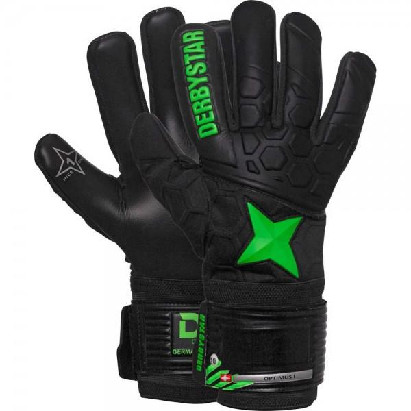 Derbystar Torwarthandschuh Optimus I schwarz/grün