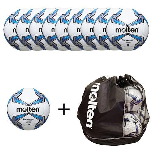 Molten Fußballpaket 10 x F5V3700 und F4V3700 inklusiver Balltasche