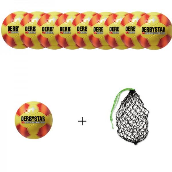 Derbystar Futsal Pro S-Light Gr.4 (10 Bälle+Ballnetz)