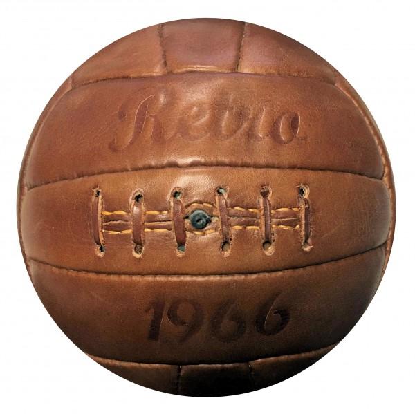 Fußball Retro 1966, Echtlederball, Retrofußball