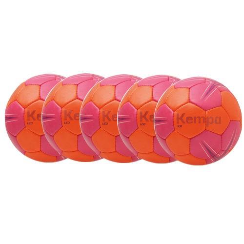 Kempa Handball Leo rose/carrot/purple Ballpaket (5 Bälle)