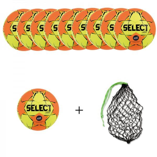 SELECT Handball Light Grippy Ballpaket (10 Bälle+Ballnetz)