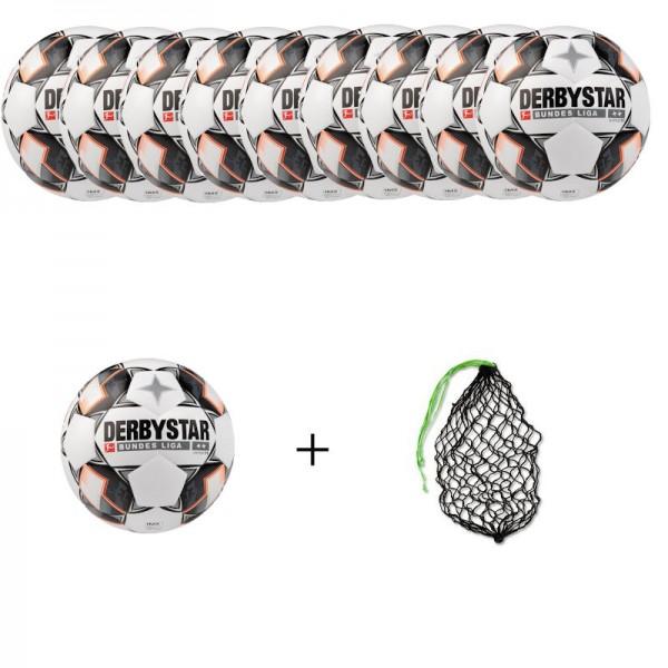 Derbystar Fußball Bundesliga Hyper TT Gr. 5 Ballpaket (10 Bälle+Ballnetz)