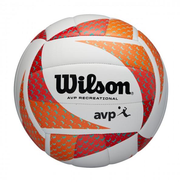 Wilson Beachvolleyball AVP weiß/orange/schwarz