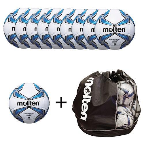 Molten Fußballpaket 10 x F5V2800 inklusiver Balltasche