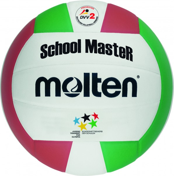 Molten Hallenvolleyball V5SMC 10er Ballpaket inkl. Ballnetz