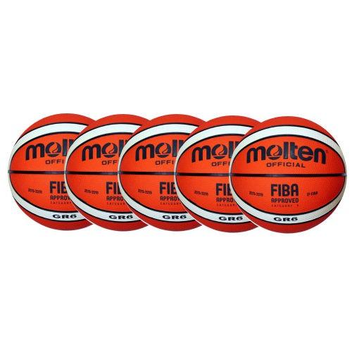 Molten Basketball BGR6-Ol Ballpaket (5 Bälle)