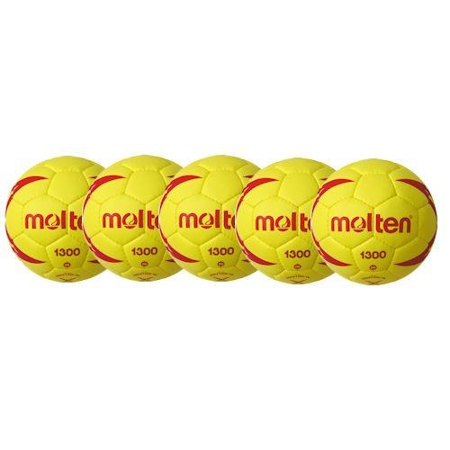 Molten Softhandball H00X1300-YR Ballpaket (5 Bälle)