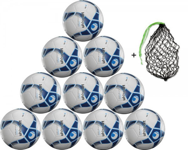 Uhlsport Futsal Medusa Nereo Gr. 4 - 10er Ballpaket inkl. Ballnetz
