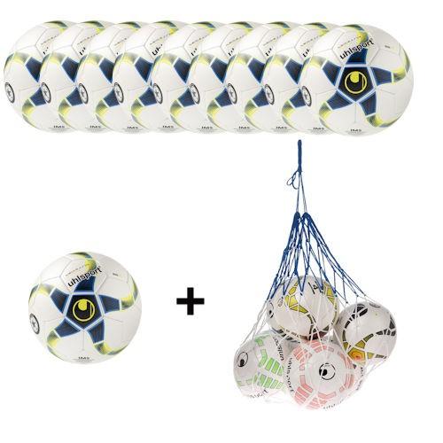 Uhlsport Futsal Medusa Stheno Ballpaket (10 Bälle + Ballnetz)