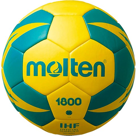 Molten Handball H1X1800-YG/H2X1800-YG/H3X1800-YG 10er Ballpaket inkl. Ballnetz