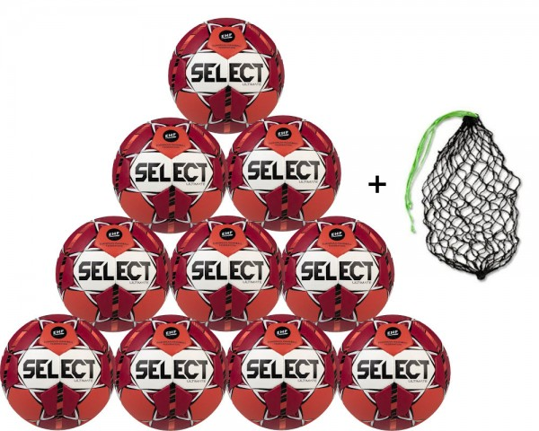 Select Handball Ultimate Top-Wettspielball 10er Ballpaket inkl. Ballnetz