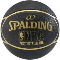 Spalding Basketball NBA Highlight Black/Gold Ballgröße: 7