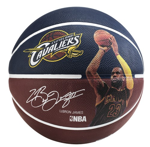 "Spalding Basketball NBA Player Ball ""Lebron James"" blau/braunrot"