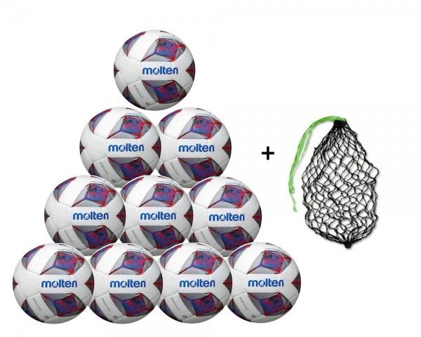 Molten Fußball F5A3600-R 10er Ballpaket inkl. Ballnetz