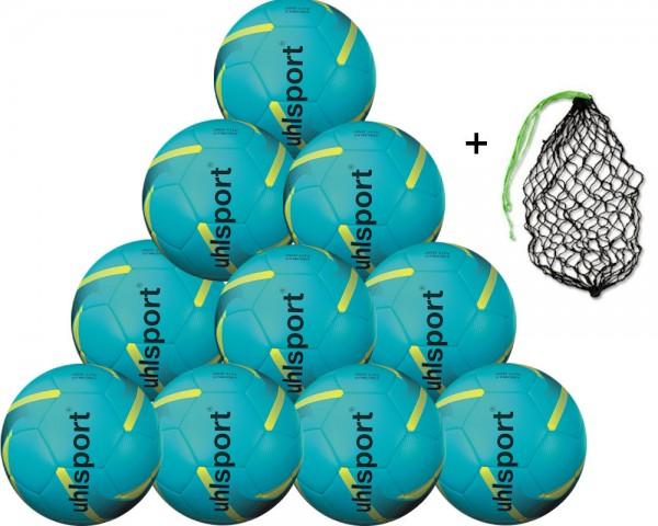 Uhlsport Fußball 350 Lite Synergy 10er Ballpaket inkl. Ballnetz