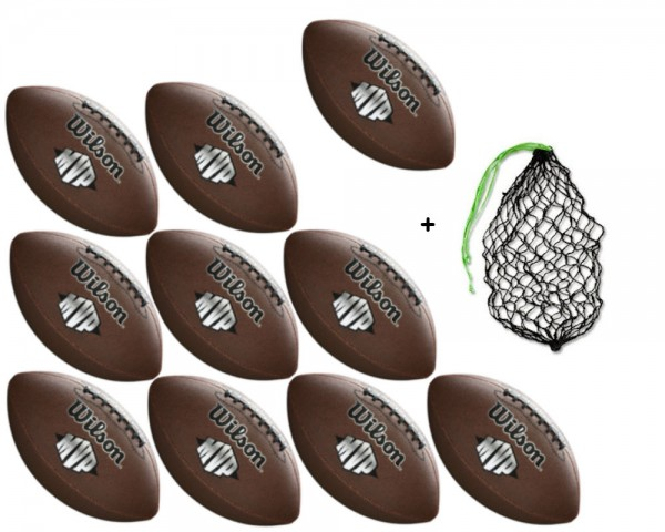 Wilson Football MVP WTF1411 - 10er Ballpaket inkl. Ballnetz