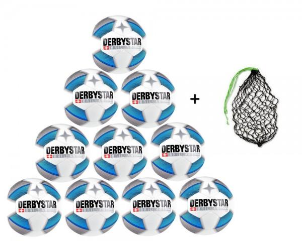 Derbystar Fußball Brillant Light DB GR 5-10er Ballpaket inkl. Ballnetz